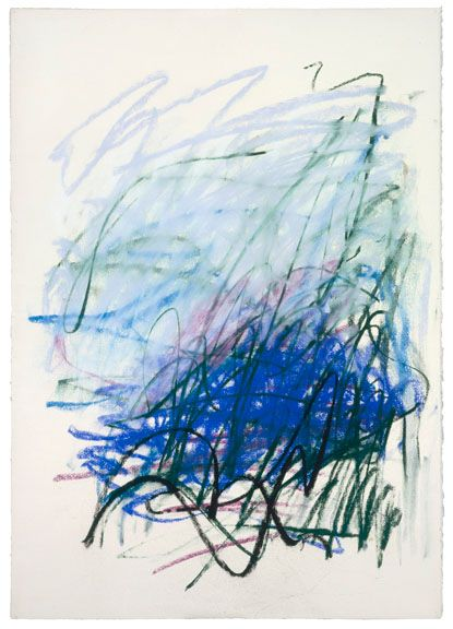 Abstract colour and lines. I really like! Joan Mitchell - Untitled, 1992. Pastel on paper, 29 1/2 x 21 3/4 inches