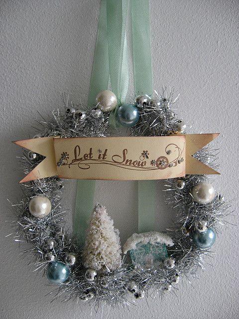 Lovely winter wreath.