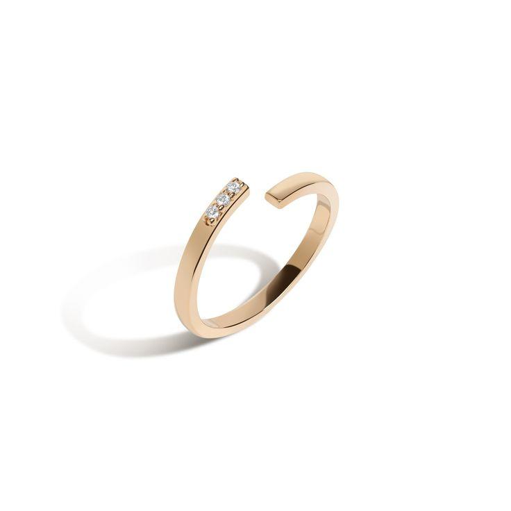 Mini Wraparound Ring with White Diamonds