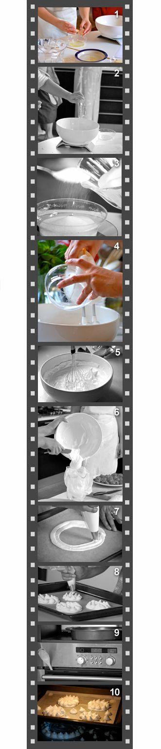 3ricettesulcomo.it125 g di albumi - 250 g di zucchero semolato - sacca da pasticceria - frullatore elettrico o robot da cucina - forno preriscaldato a 80°C.