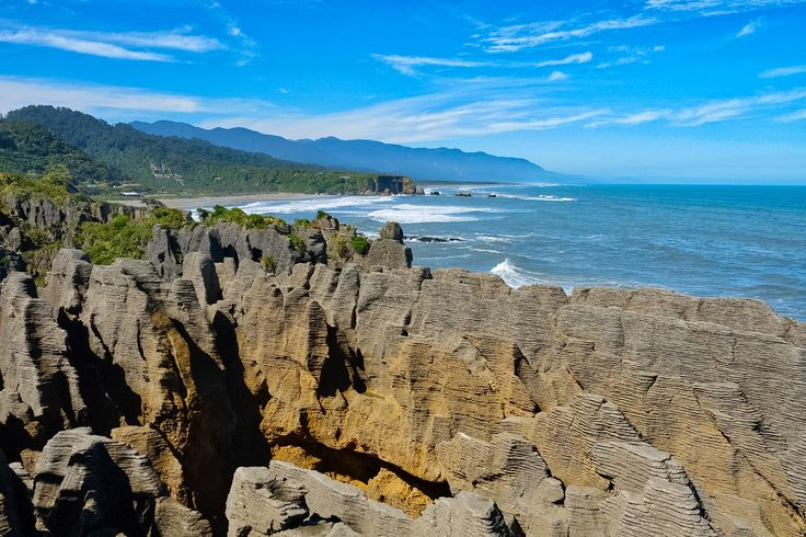 Pancake Rocks at Punakaiki on the West Coast of the South Island.