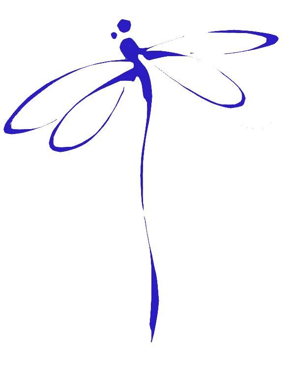 Dragonfly logo - I really like the simplicity of this.   Catalysing the new you!