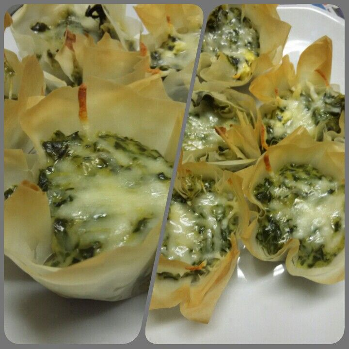 Spinach & Feta Phyllo Baskets