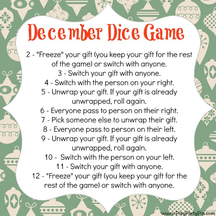 Christmas game gift exchange ideas