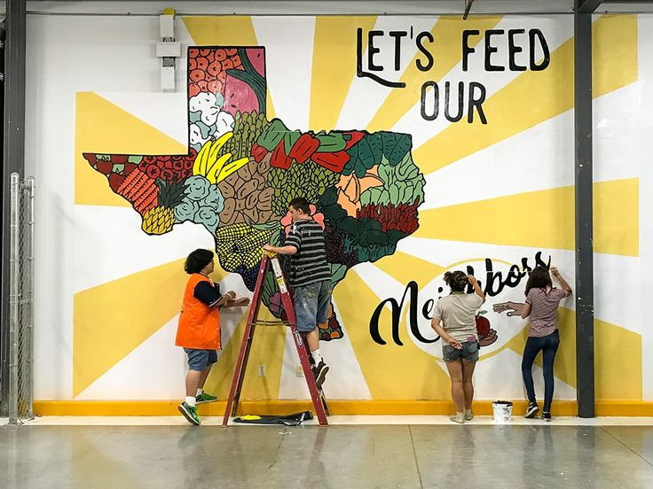Pin by Courtney DG on art Food bank, Mural, Texas food