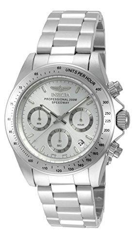 Montre Homme Invicta SpeedWay 14381 - Quartz Chronographe - Cadran et Bracelet en Acier inoxydable Argent - Date
