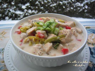 les milles & un délices de ~lexibule~: Soupe crémeuse au poulet