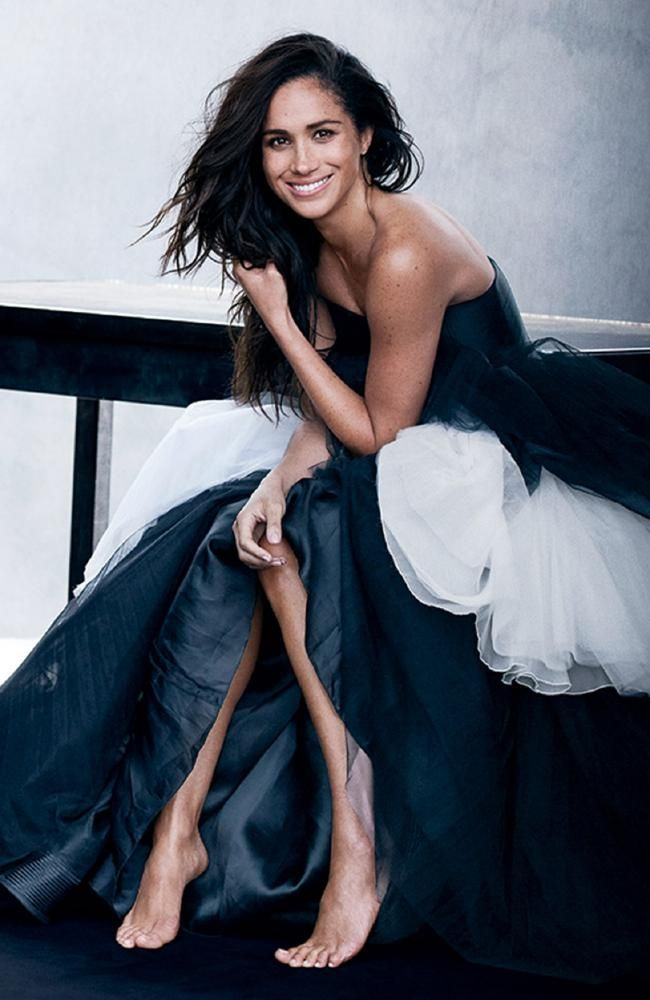Meghan Markle poses for Vanity Fair's October 2017 cover shoot. Picture: Peter Lindbergh for Vanity Fair