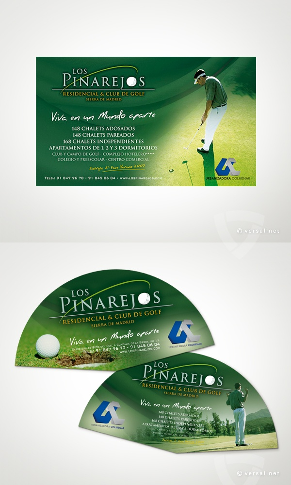 Los Pinarejos -   Conjunto Residencial & Club de Golf - Sierra de Madrid  (Campaña 2006)  Mural oficina de información y Abanico   - www.versal.net • Diseño Gráfico • Identidad Visual Corporativa • Publicidad • Diseño Páginas Web • Ilustración • Graphic Design • Corporate Identity • Advertising • Web Pages • Illustration • Logo