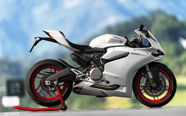 Descargar fondos de pantalla Ducati 899 Panigale, 4k, 2017 bicicletas, motos deportivas, italiano de motocicletas, Ducati