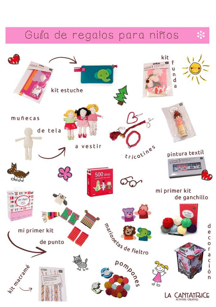 Para los niños tambien tenemos ideas creativas para regalos únicos que despiertan su imaginación ! Para aprender a coser, tejer y crear con varios materiales ! Kit de estuche a coser, kit funda de ...