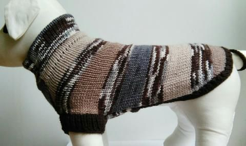 KALA sveter melírovaný hnedý