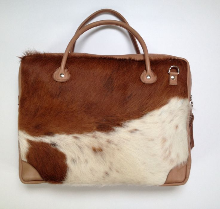 Managersbag, made of leather and cowskin