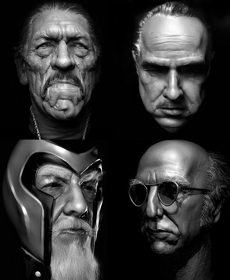 Four Zbrush portraits by Leppee