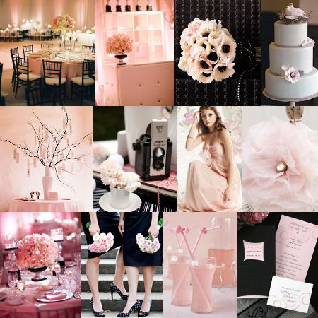 Charcoal Grey Blush Pink Wedding Bush And Color T