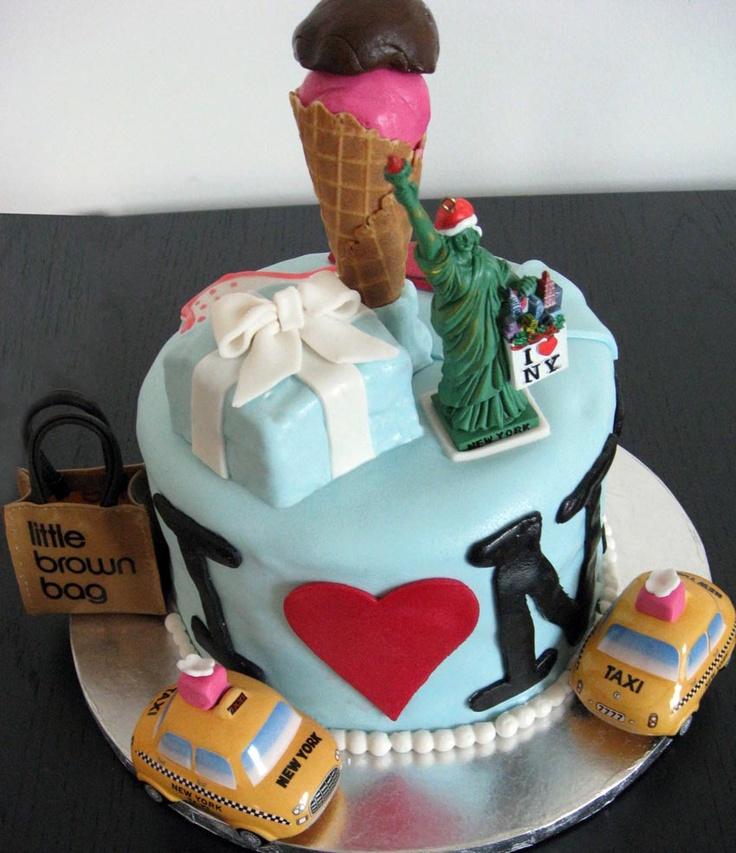 Nyc Cake, Birthday Cake, Cake