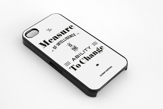 Einstein quote iPhone 5  5s case iphone 44s case by MessProject, €13.00  #blackandwhite #wallartdecor #blackandwhite #artprint #inspirationalprint #quote #literary #etsy
