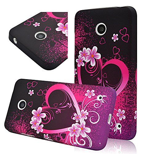 seedan love heart flowers painting gel case for nokia