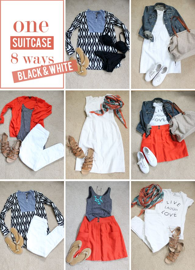 mix & match suitcase, black & white edition