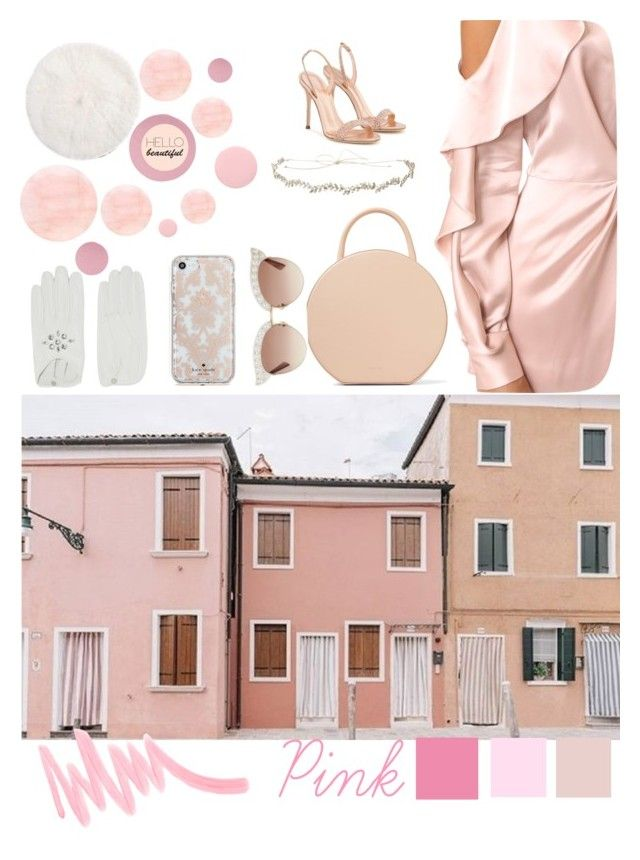 """""""Pink"""" by lizzapaola ❤ liked on Polyvore featuring Colonial Mills, Deborah Lippmann, Mansur Gavriel, Acler, Rebecca Minkoff, Jennifer Behr, Gucci, Causse, Kate Spade and Forever 21"""