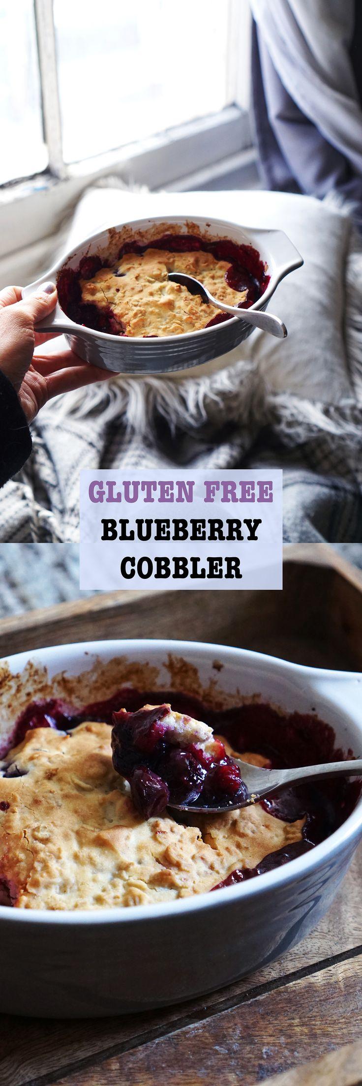 Gluten Free Blueberry Cobbler | #cobbler #blueberry #breakfast #dessert #glutenfree #gf #recipe #food #coeliac #baking #cooking