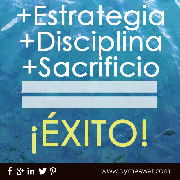 Para tener un buen #Éxito debes de sumar una #Estrategia + #Disciplina + Sacrificio y obtendrán buenos resultados.
