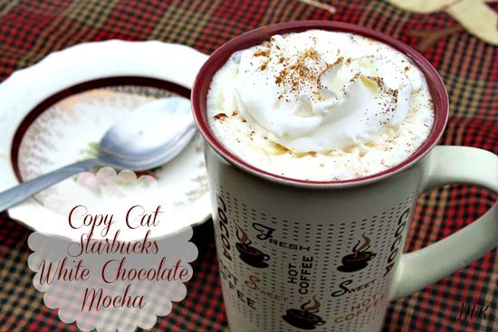 Mommy's Kitchen: Copy Cat Starbuck's White Chocolate Mocha