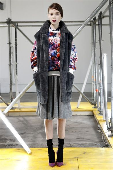 A look from the MSGM 2013 pre-collection #lookbook #style