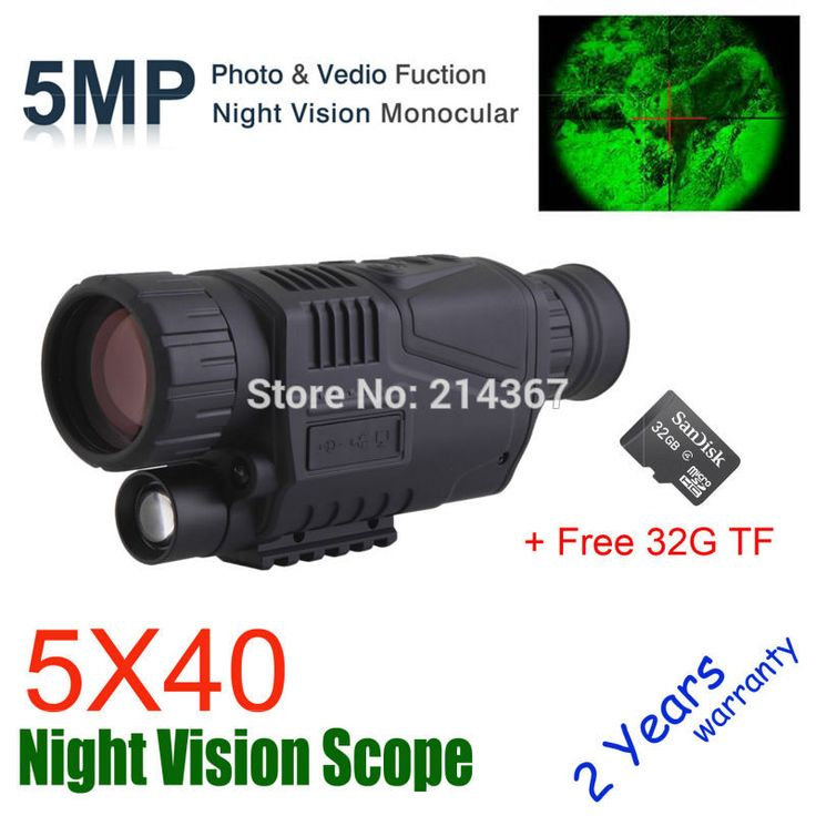 Cheap monocular scope, Buy Quality scope 50 directly from China scope monocular Suppliers: 5X40 Digital Night Vision Monocular Night Vision Hunting Scope Night Vision Optics Hunter Scope Free Ship