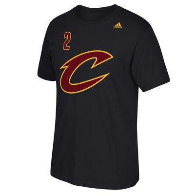 Kyrie Irving Cleveland Cavaliers adidas Net Number T-Shirt - Black
