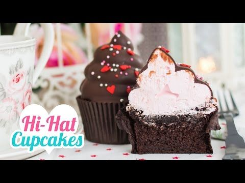Hi-Hat Cupcakes | Merengue italiano y chocolate | San Valentín | Quiero Cupcakes! - YouTube