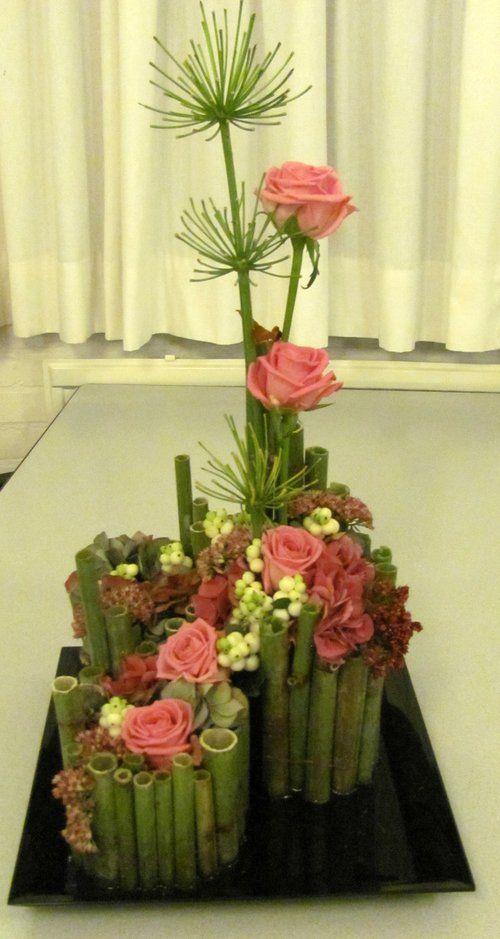 werkstukken cursisten bloemschikken september 2013