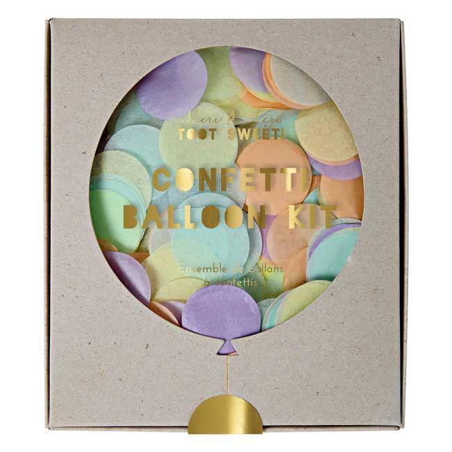Zestaw balonów konfetti pastelowych