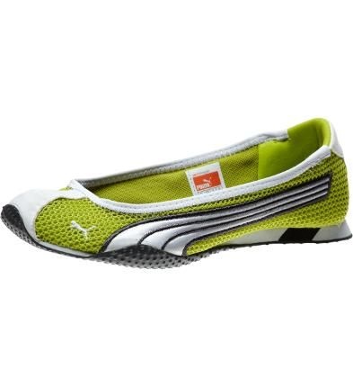 H-Street Ballerina Flats, bright chartreuse-white-dark shadow - just bought these - best running around for work shoes ever!!