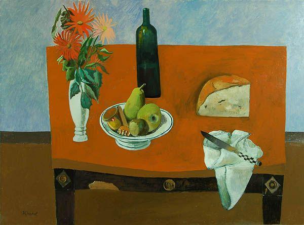 Simon Quadrat, Still Life with Flowers and Bread