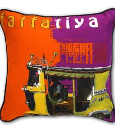 Designer Yellow taxi cushion covers online, pillow covers online