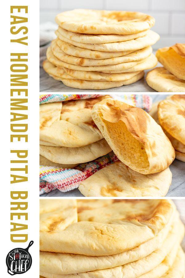 Easy Homemade Pita Bread Recipe In 2020 Homemade Pita Bread Homemade Bread Recipes