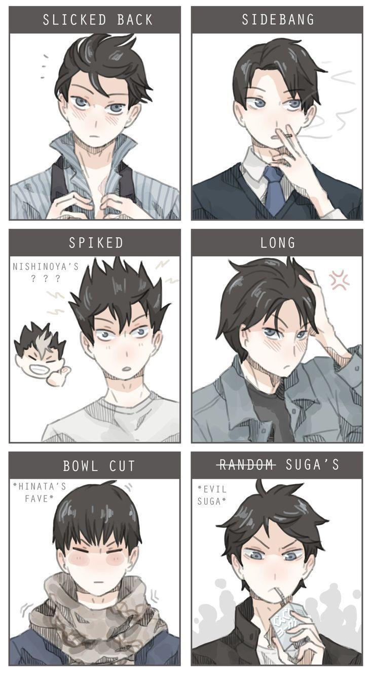 Kageyama mit verschiedenen Frisuren . DAM  _   #frisuren #kageyama #verschi