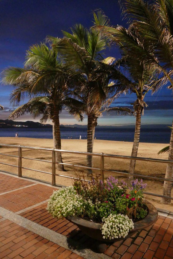 Playa de las canteras. Las Palmas de Gran Canaria. Spain