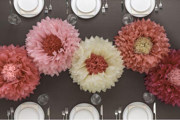 Martha Stewart - Pink Pom Pom Paper Flowers