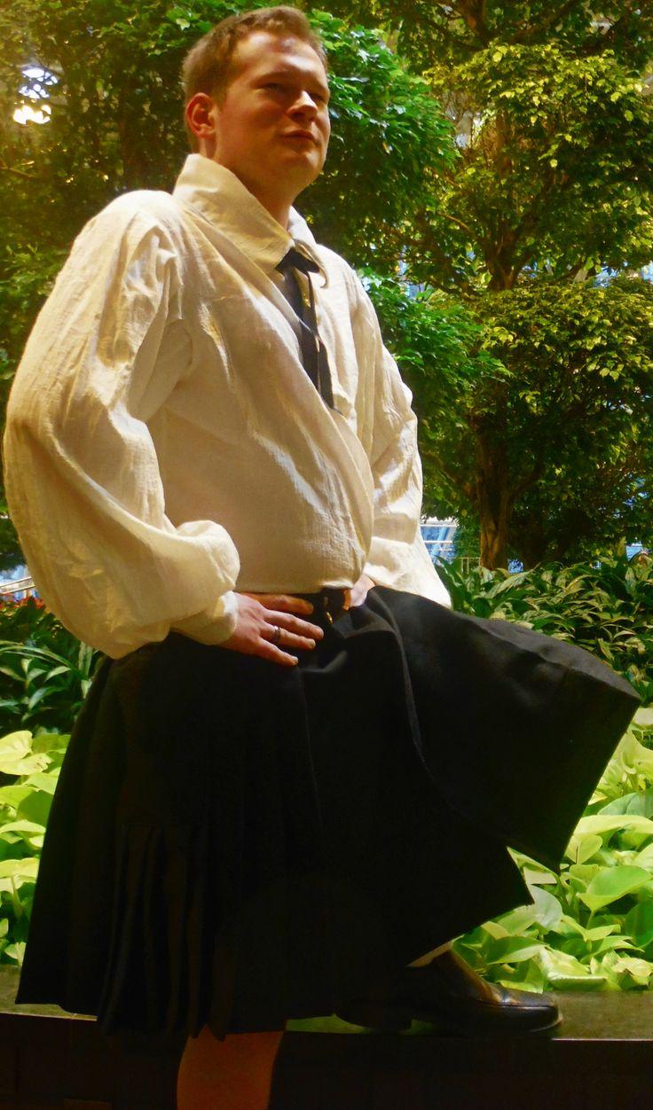 Cargo Kilt with Peasant Shirt