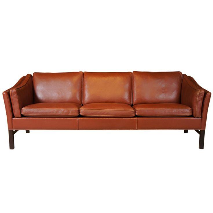 Danish Modern Sofas: Danish Modern Leather Sofa