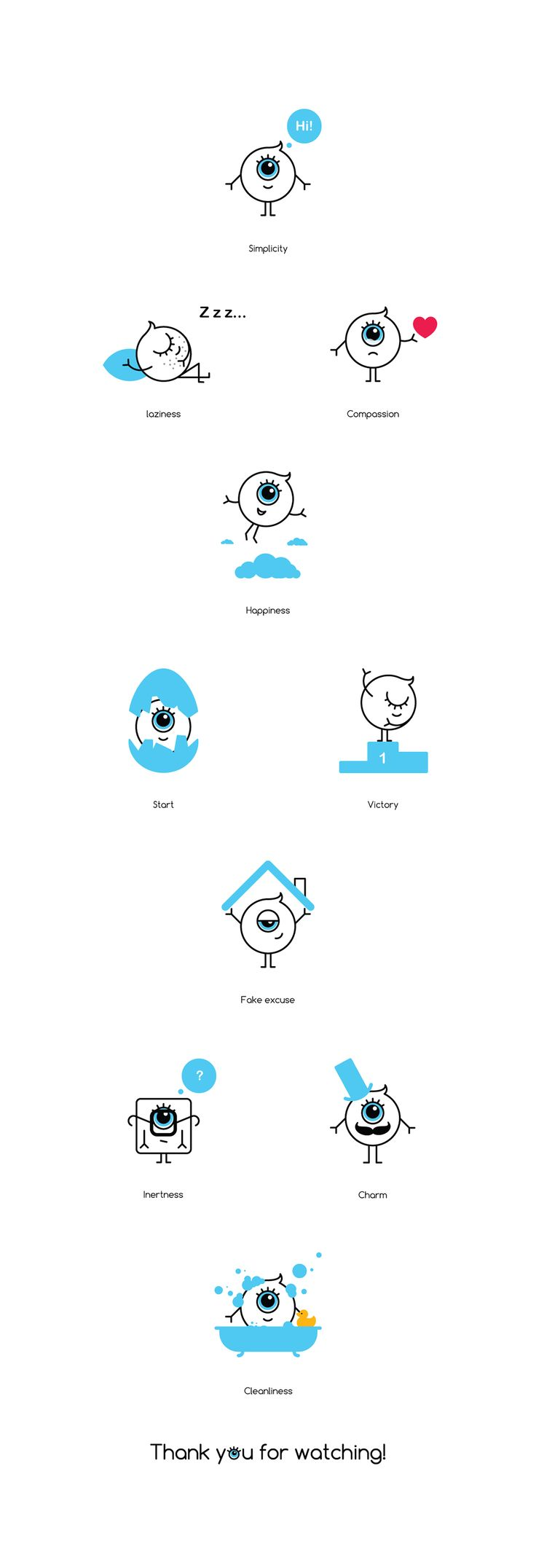 Behance :: Editing Emotions Icon set