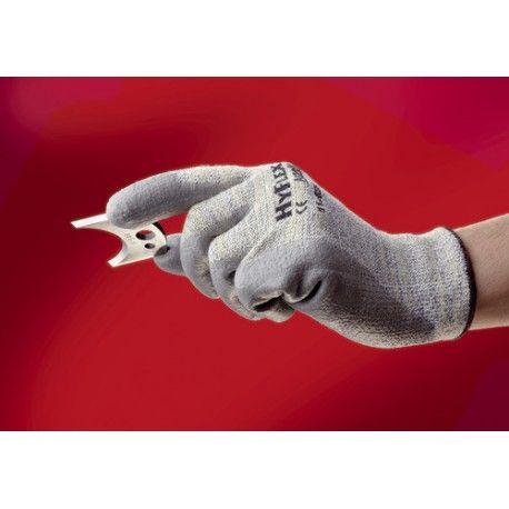 Guante HYFLEX Palma Recub.PU Forro Nylon gris Dyneema/Lycra Referencia  11630 Marca:  Industrial Starter  Palma rivestida en PU., puño elastico. Algodón, Lycra®, Kevlar®   Longitud: 215 - 275 mm
