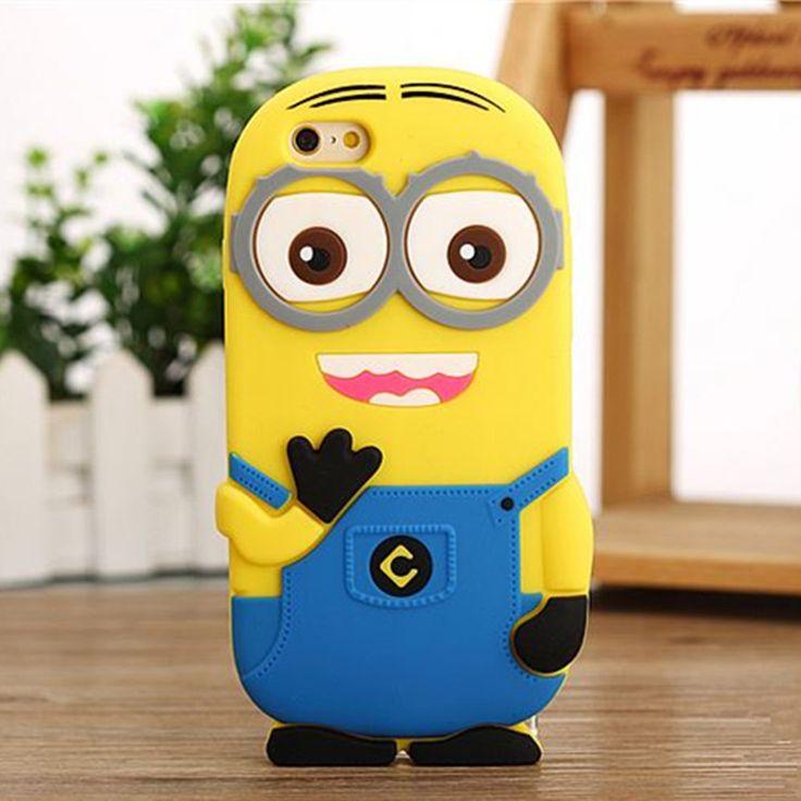 3D Cartoon Despicable Me Yellow Minion Soft Silicon Case Cover For iPhone 4s 5S SE 6 Plus Samsung S3 S4 S5 Mini S6 Edge A3 A5 A7 Price: USD 3.02 | UnitedStates