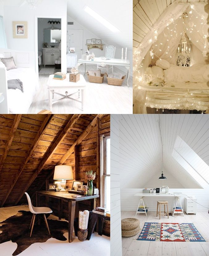 Attic Rooms and sloping walls from the