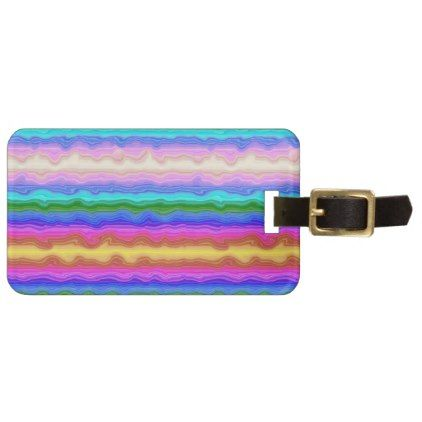 #Waves of Colour Personalized Luggage Tag - #travel #accessories