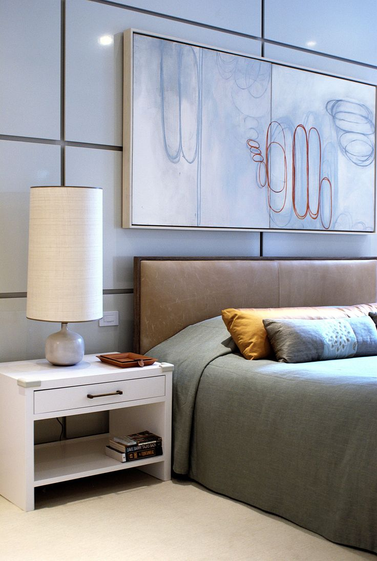 Blue modern master bedroom - White Contemporary Nightstand The Perfect Choice For Minimalist And Lovely Master Bedroom Interiors Http