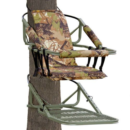 Tree Climbing Stand Hunting Big Game Portable Bow Deer Steel Climber Camo Seat #BestChoiceProducts