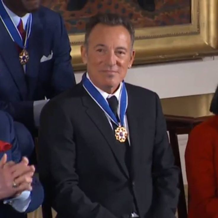 Highest honor a civilian can receive is the Presidential Medal of Freedom. The Boss received one!